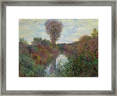 Small Branch Of The Seine Framed Print by Claude Monet