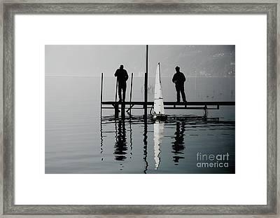 Small Sailing Boat Framed Print by Mats Silvan