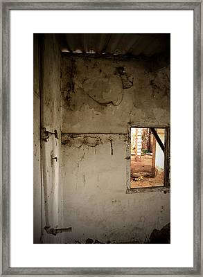 Small Window In An Abandoned Kitchen Framed Print by RicardMN Photography
