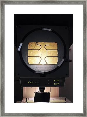 Smart Card Testing Framed Print by Ria Novosti