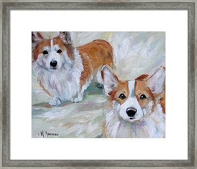 Smarty And Rosie Framed Print by Mary Sparrow