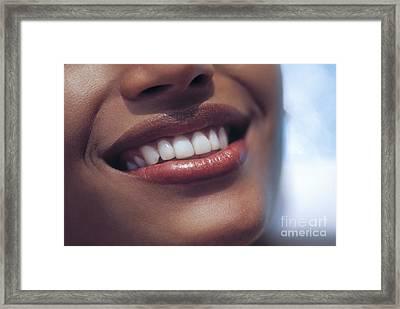 Smile Framed Print by Juan  Silva
