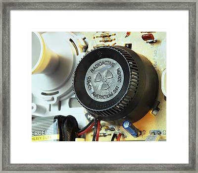 Smoke Detector Radiation Source Framed Print by Martin Bond