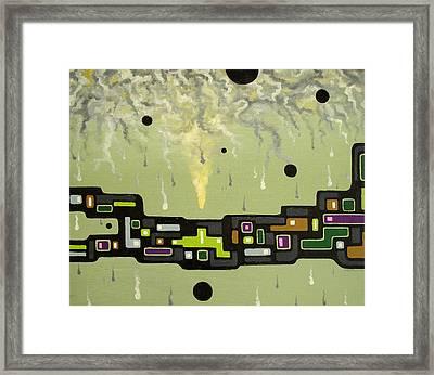 Smoke Factory - 2000 Framed Print by Valerie Benedetti