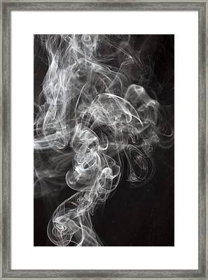 Smoke Swirls  Framed Print by Garry Gay