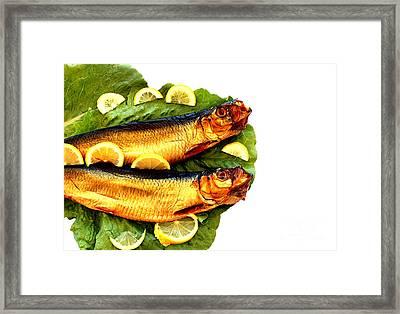 Smoked Fish Framed Print by Soultana Koleska