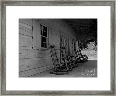 Smokey Mountain Front Porch Framed Print by Elizabeth Coats