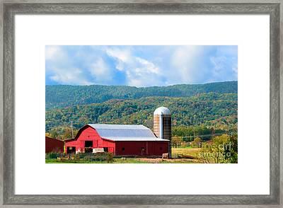 Smokie Mountain Barn Framed Print by Betty LaRue