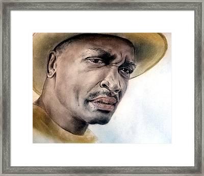 Smokin Joe Frazier Framed Print by Jim Fitzpatrick
