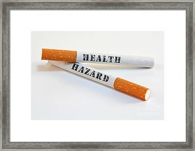 Smoking Is A Health Hazard Framed Print by Blink Images