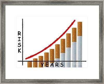 Smoking Risk Concept Framed Print by Blink Images