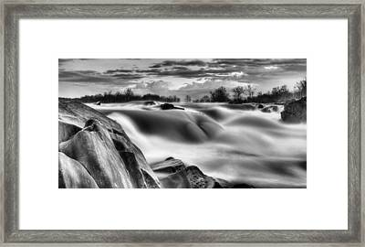 Smooth Black And White Framed Print by JC Findley