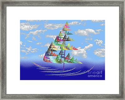 Smooth Sailing Framed Print by Andee Design