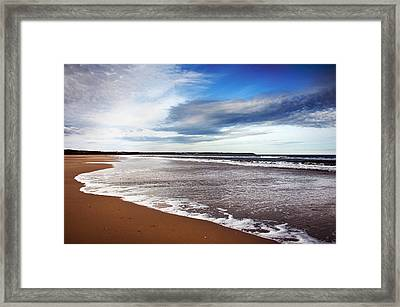 Smooth Wave Framed Print by Svetlana Sewell