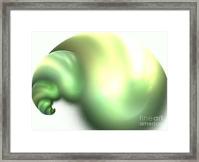 Snail Framed Print by Kim Sy Ok