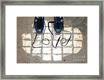 Sneaker Love 1 Framed Print by Paul Ward