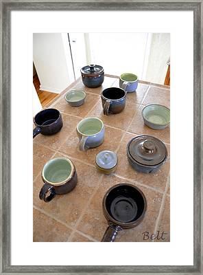 Snickerhaus Pottery Framed Print by Christine Belt