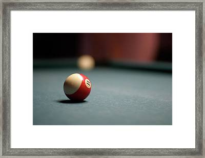 Snooker Ball Framed Print by Photo by Andrew B. Wertheimer