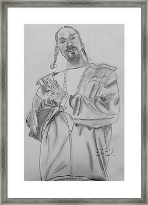Snoop Dogg Framed Print by Estelle BRETON-MAYA