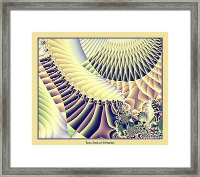 Snow Capped Mountains And Verdant Valleys Fractal 156 Framed Print by Rose Santuci-Sofranko