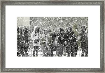 Snow In City Framed Print by Yury Bashkin