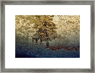 Snow On My Window Framed Print by Ellen Heaverlo