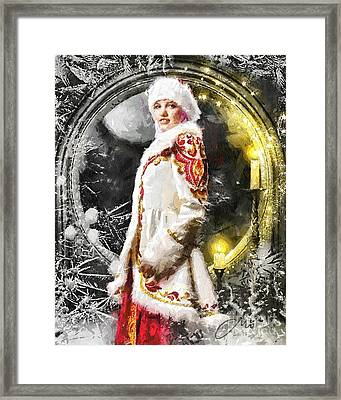 Snow Queen Framed Print by Mo T
