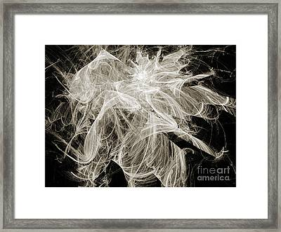 Snow Storm Abstract Framed Print by Andee Design