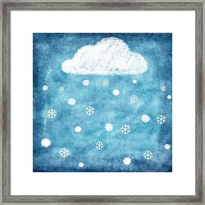 Snow Winter Framed Print by Setsiri Silapasuwanchai