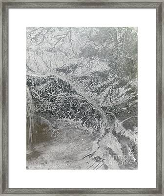 Snowy And Hazy Central Russia Showing Framed Print by Stocktrek Images