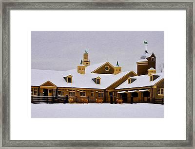 Snowy Day At Erdenheim Farm Framed Print by Bill Cannon