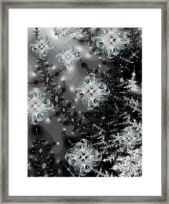 Snowy Night IIi Fractal Framed Print by Betsy Knapp