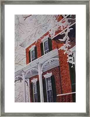 Snowy Yesteryear Framed Print by Patsy Sharpe
