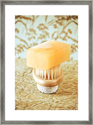 Soap And Pumice Framed Print by HD Connelly