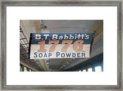 Soap Powder Train Ad Signage Digital Art Framed Print by Thomas Woolworth