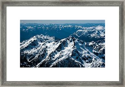 Soaring Over The Olympics Framed Print by Mike Reid