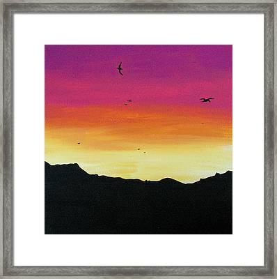 Soaring Sunset Framed Print by Jera Sky