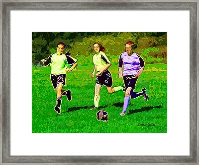 Soccer Framed Print by Stephen Younts