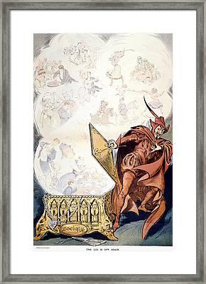 Society Cartoon, C1905 Framed Print by Granger