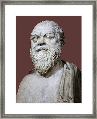 Socrates Framed Print by Sheila Terry