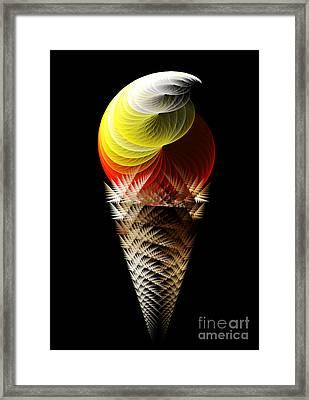 Soft Serve Ice Cream Citrus Swirl Framed Print by Andee Design