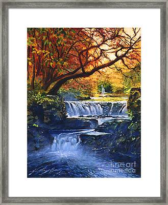 Soft Sounds Of Water Framed Print by David Lloyd Glover