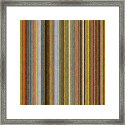 Soft Stripes Ll Framed Print by Michelle Calkins