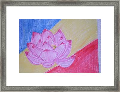 Soka Lotus Framed Print by Genoa Chanel