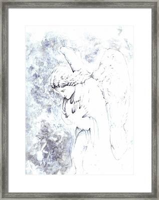 Solace Angel Framed Print by Lisa Buchanan