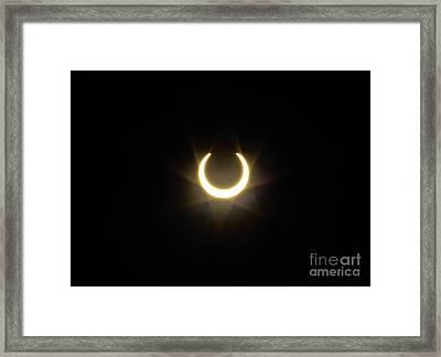 Solar Eclipse 5 Framed Print by Mitch Shindelbower