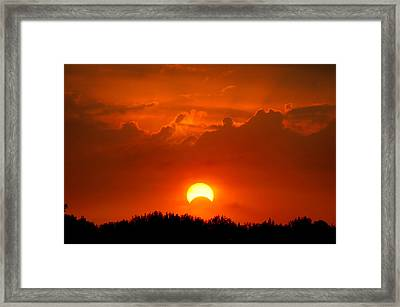 Solar Eclipse Framed Print by Bill Pevlor