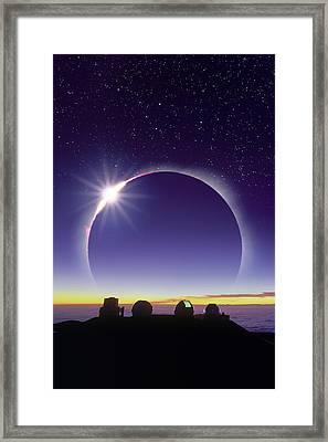 Solar Eclipse Framed Print by David Nunuk