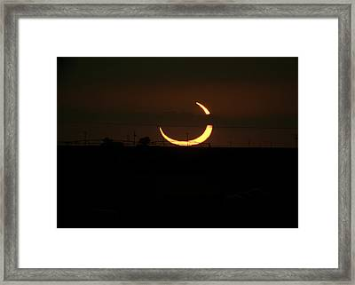 Solar Eclipse In Lubbock Texas Framed Print by Melany Sarafis