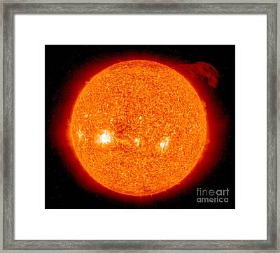 Solar Prominence Framed Print by Nasa